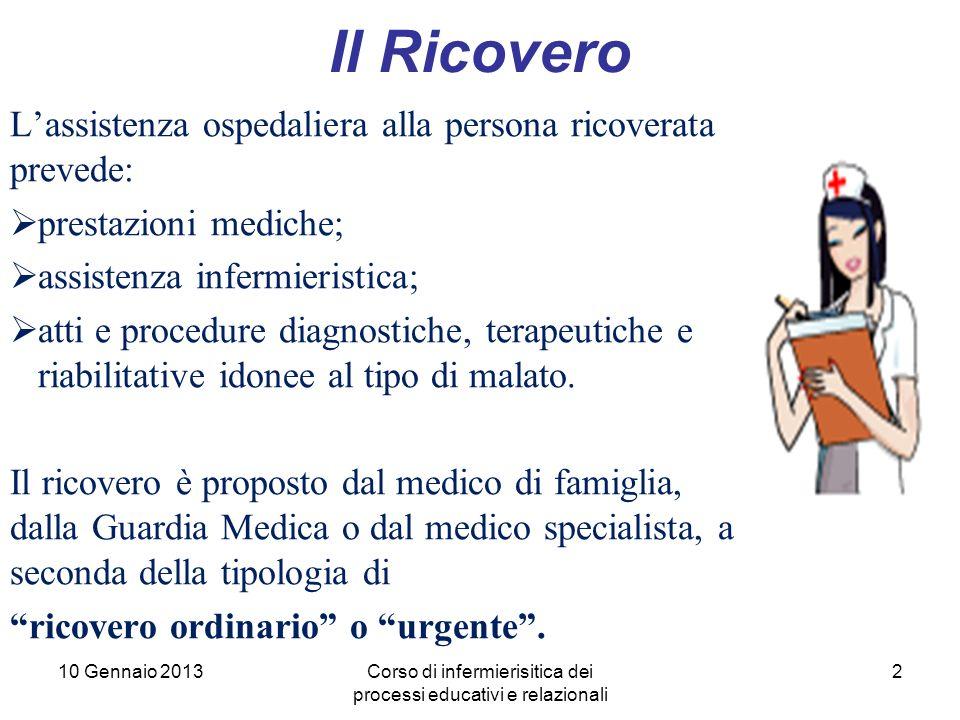 Corso di infermierisitica dei processi educativi e relazionali
