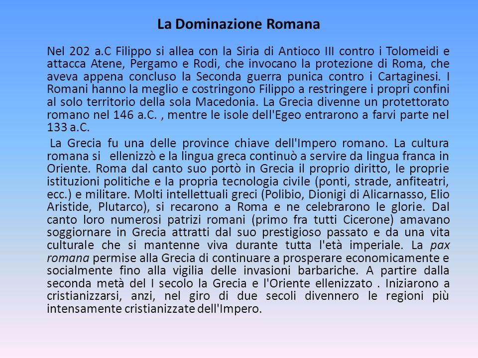 La Dominazione Romana