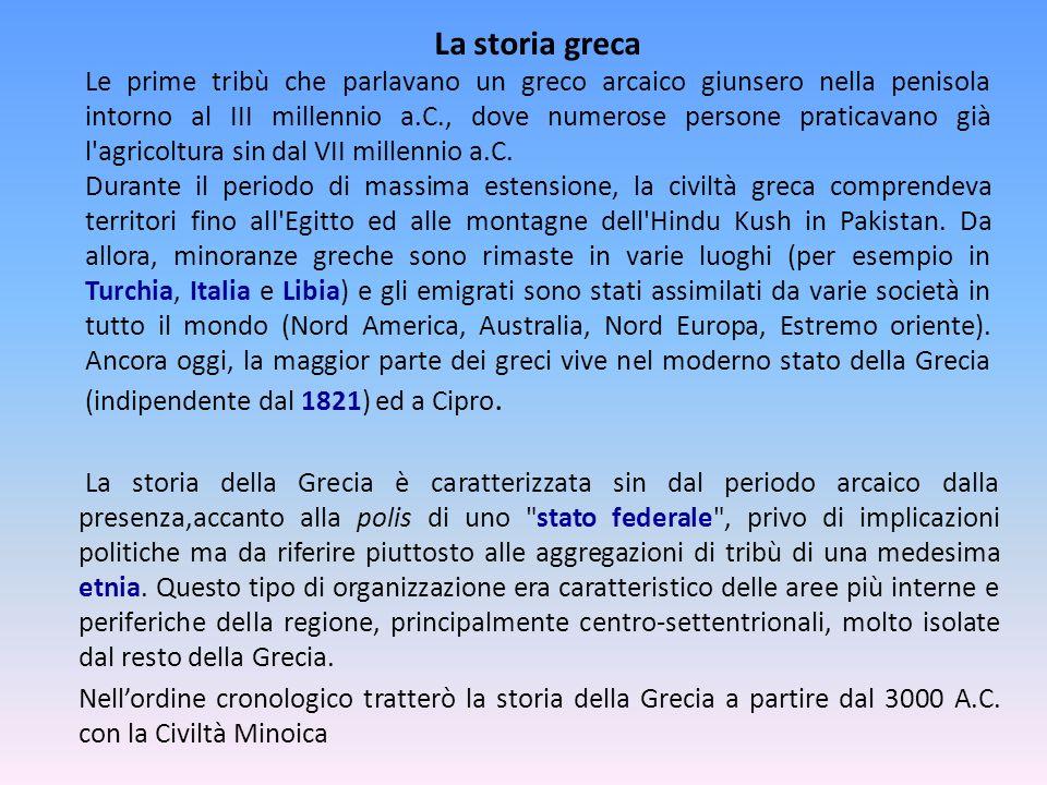 La storia greca