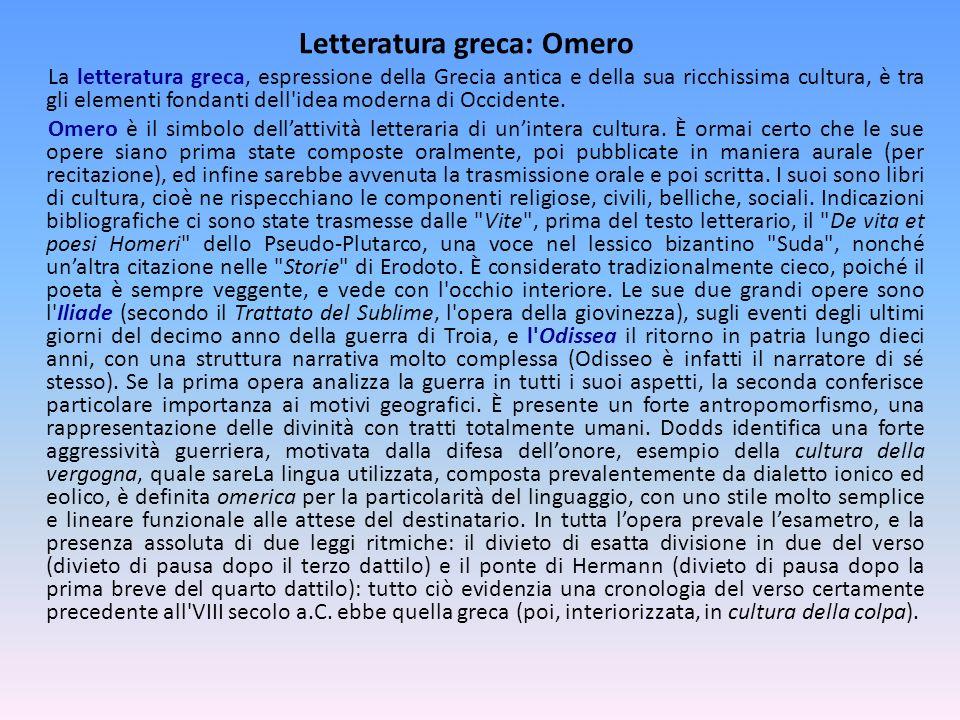 Letteratura greca: Omero
