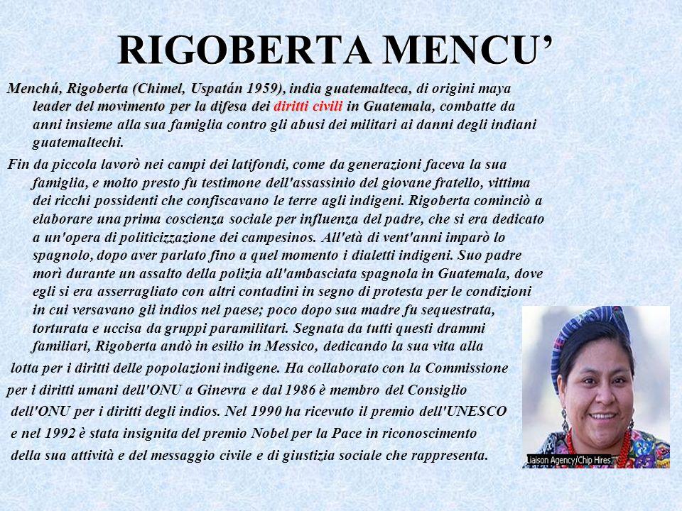 RIGOBERTA MENCU'