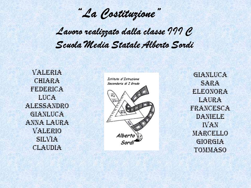 La Costituzione Lavoro realizzato dalla classe III C Scuola Media Statale Alberto Sordi. Valeria.