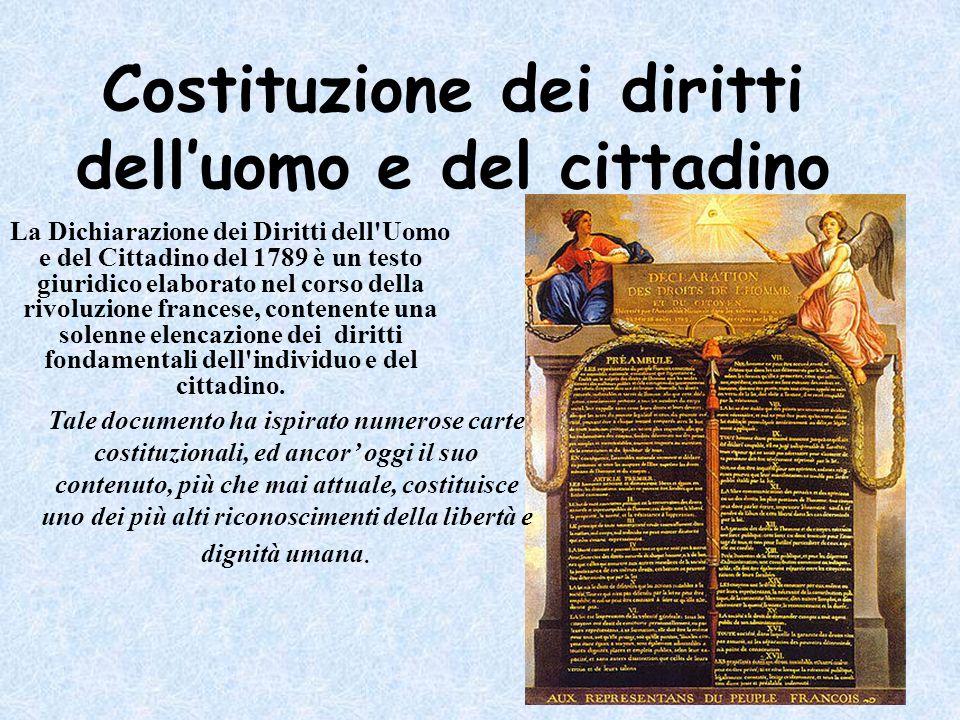 Costituzione dei diritti dell'uomo e del cittadino