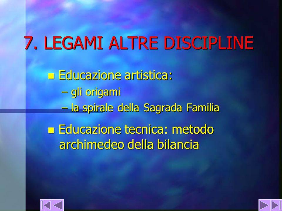7. LEGAMI ALTRE DISCIPLINE
