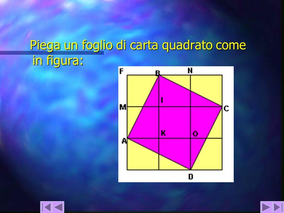 Piega un foglio di carta quadrato come in figura: