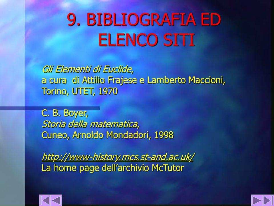 9. BIBLIOGRAFIA ED ELENCO SITI