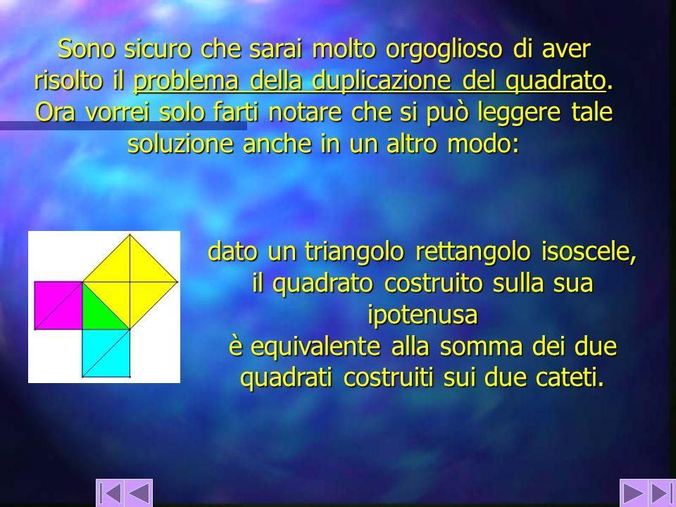 dato un triangolo rettangolo isoscele,