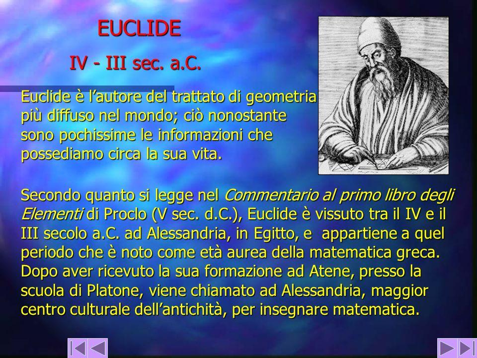 EUCLIDE IV - III sec. a.C.