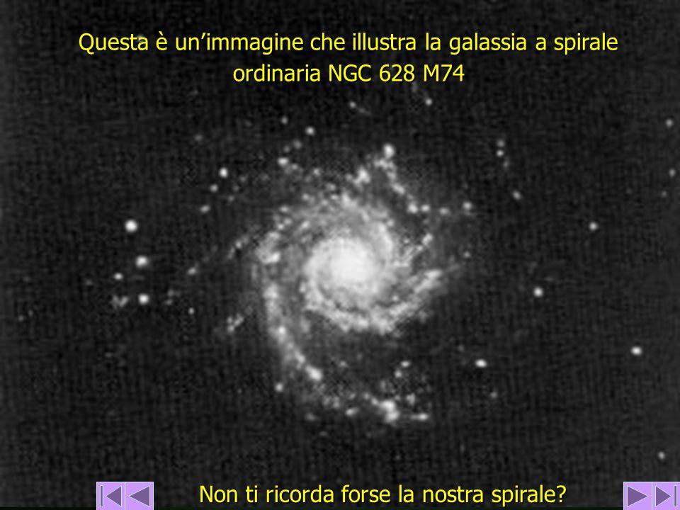 Questa è un'immagine che illustra la galassia a spirale