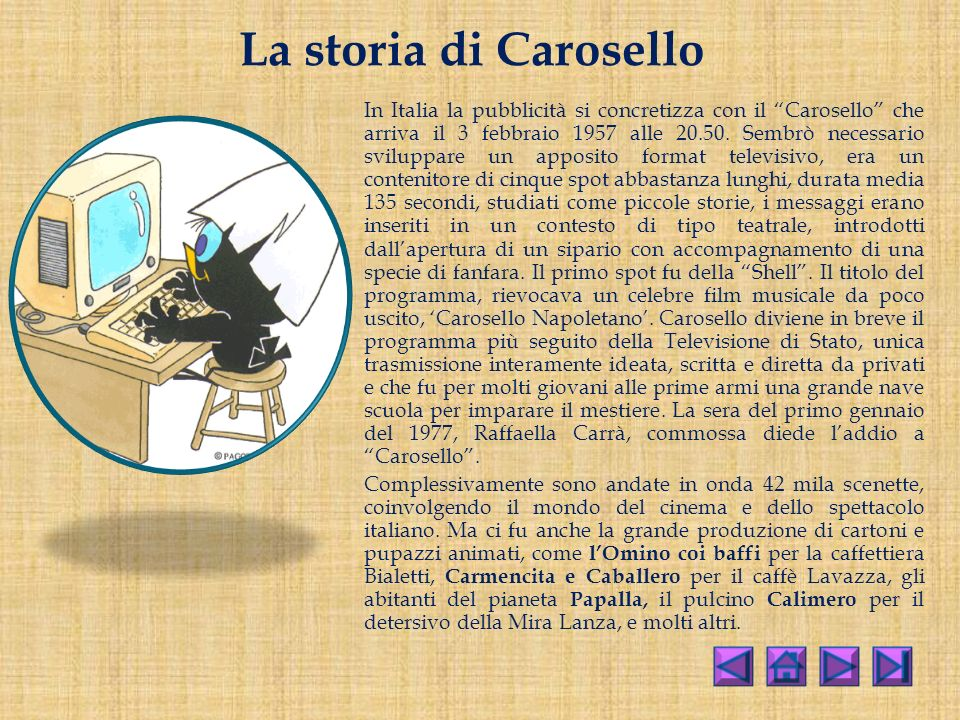 La storia di Carosello