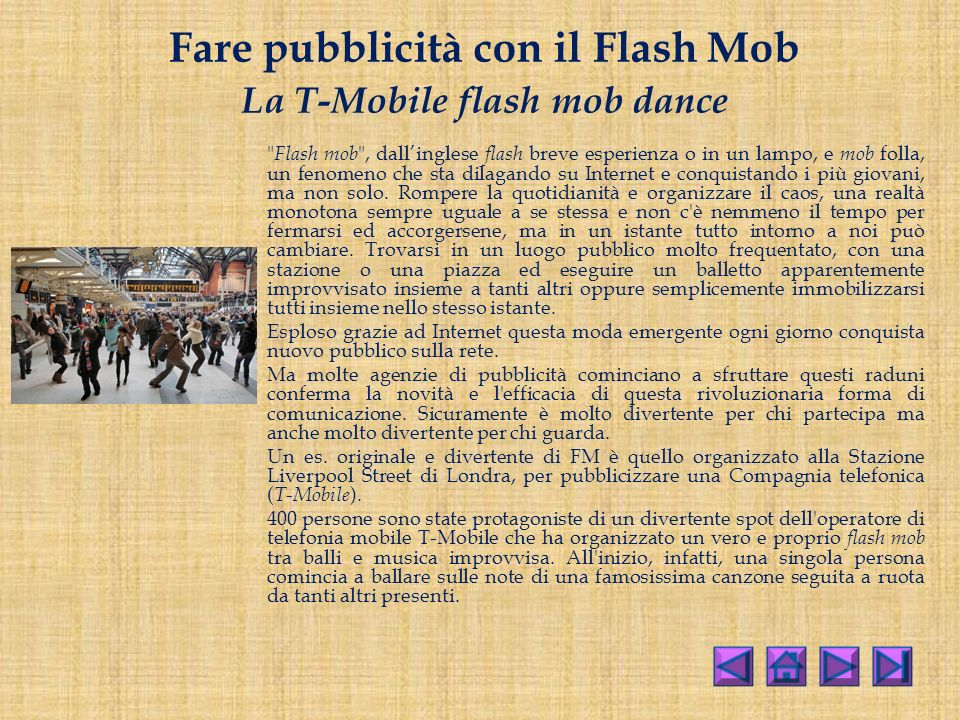 Fare pubblicità con il Flash Mob La T-Mobile flash mob dance