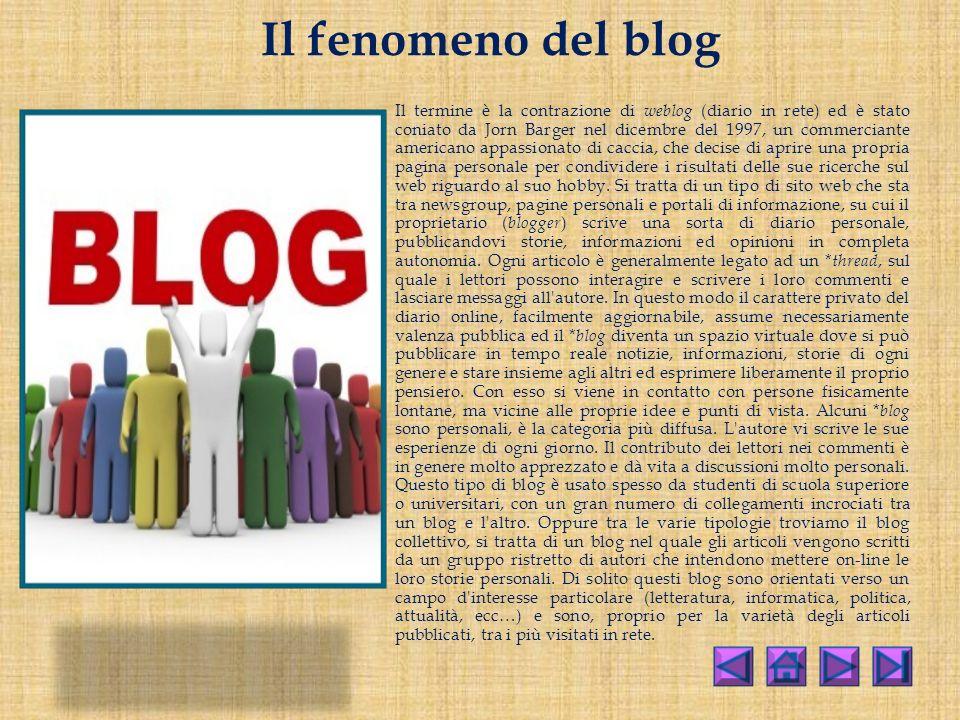 Il fenomeno del blog
