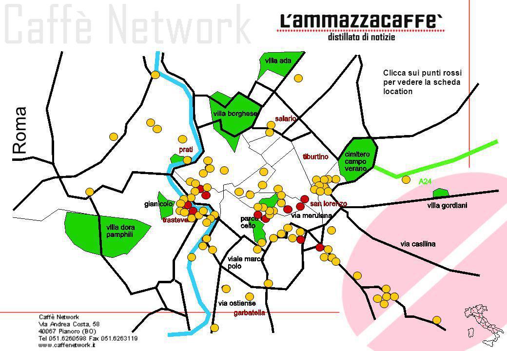 Clicca sui punti rossi per vedere la scheda location
