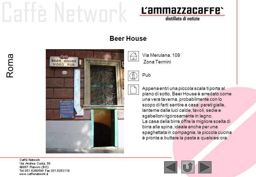 Roma Beer House Via Merulana, 109 Zona Termini Pub