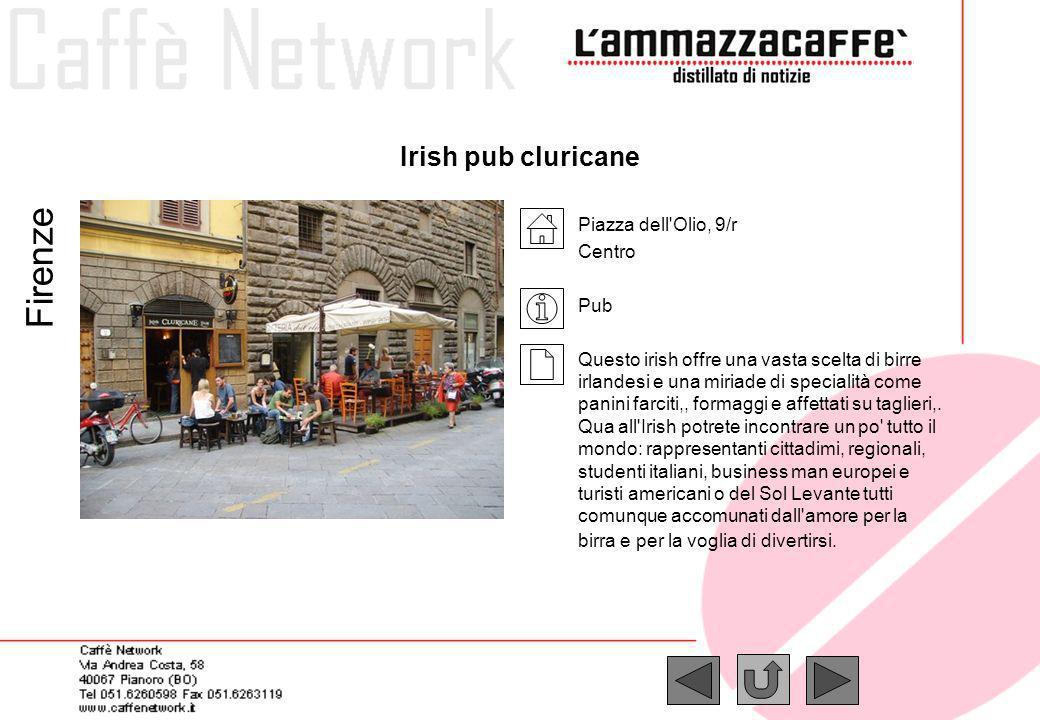 Firenze Irish pub cluricane Piazza dell Olio, 9/r Centro Pub