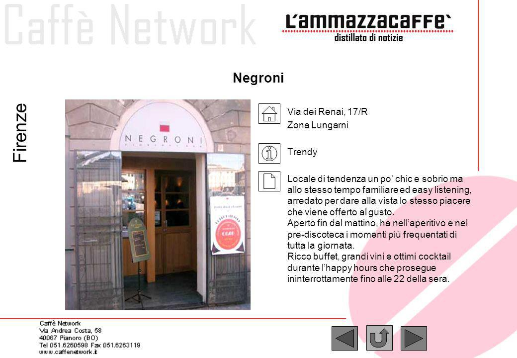 Firenze Negroni Via dei Renai, 17/R Zona Lungarni Trendy
