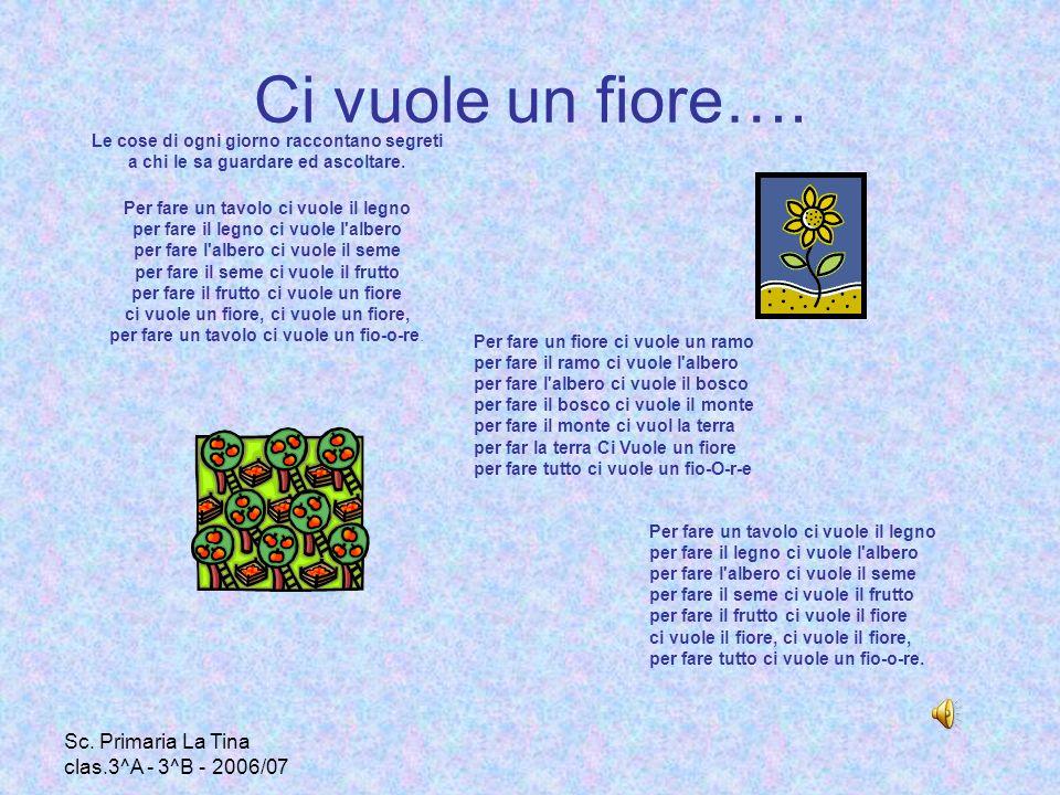 Ci vuole un fiore…. Sc. Primaria La Tina clas.3^A - 3^B - 2006/07