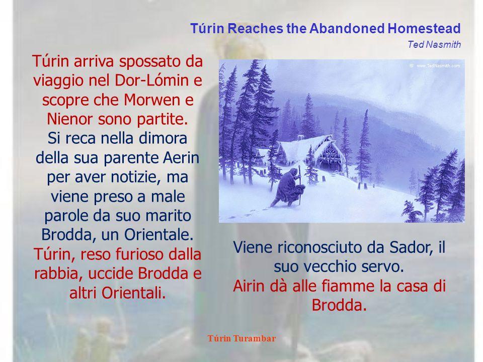 Túrin, reso furioso dalla rabbia, uccide Brodda e altri Orientali.