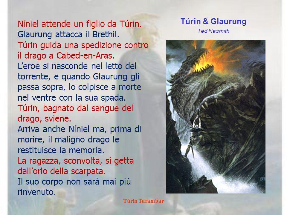 Níniel attende un figlio da Túrin. Glaurung attacca il Brethil.