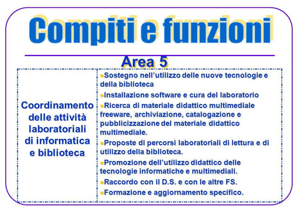 Coordinamento delle attività laboratoriali di informatica e biblioteca