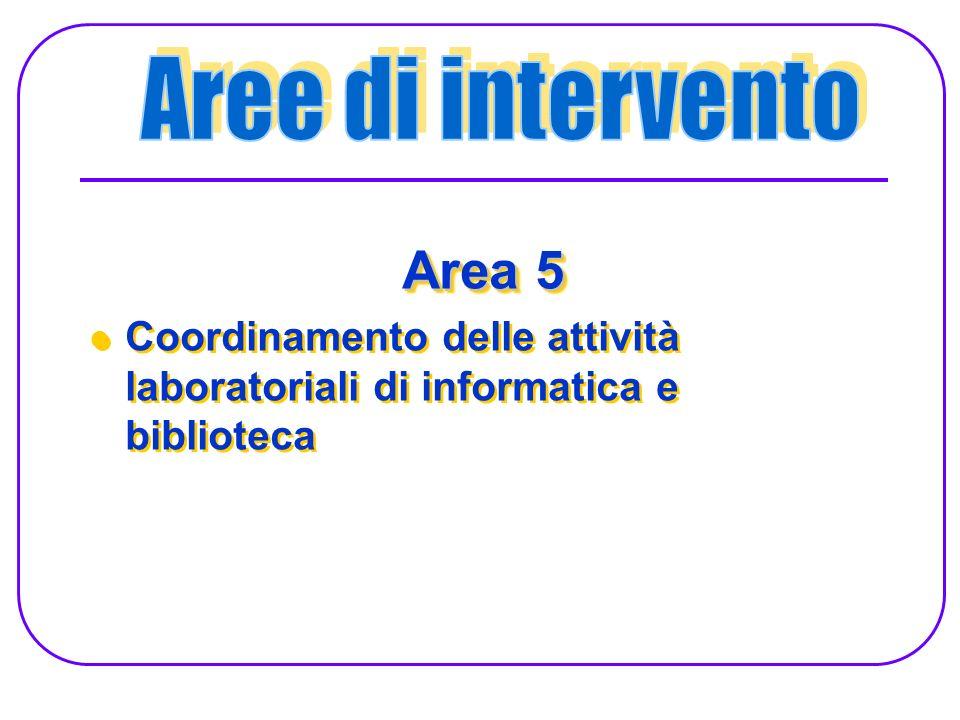 Area 5 Aree di intervento