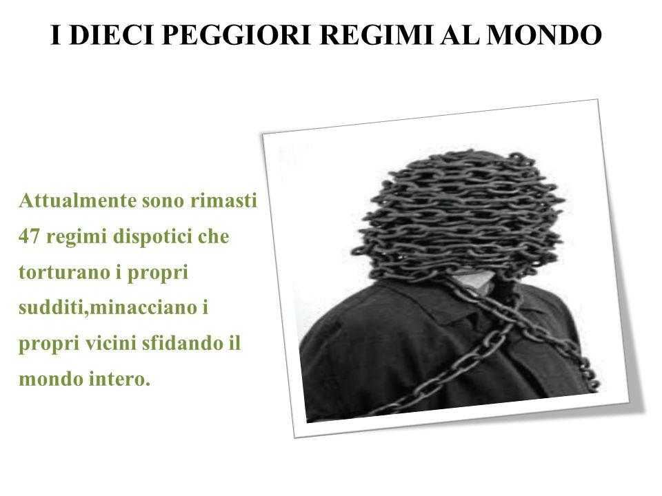I DIECI PEGGIORI REGIMI AL MONDO