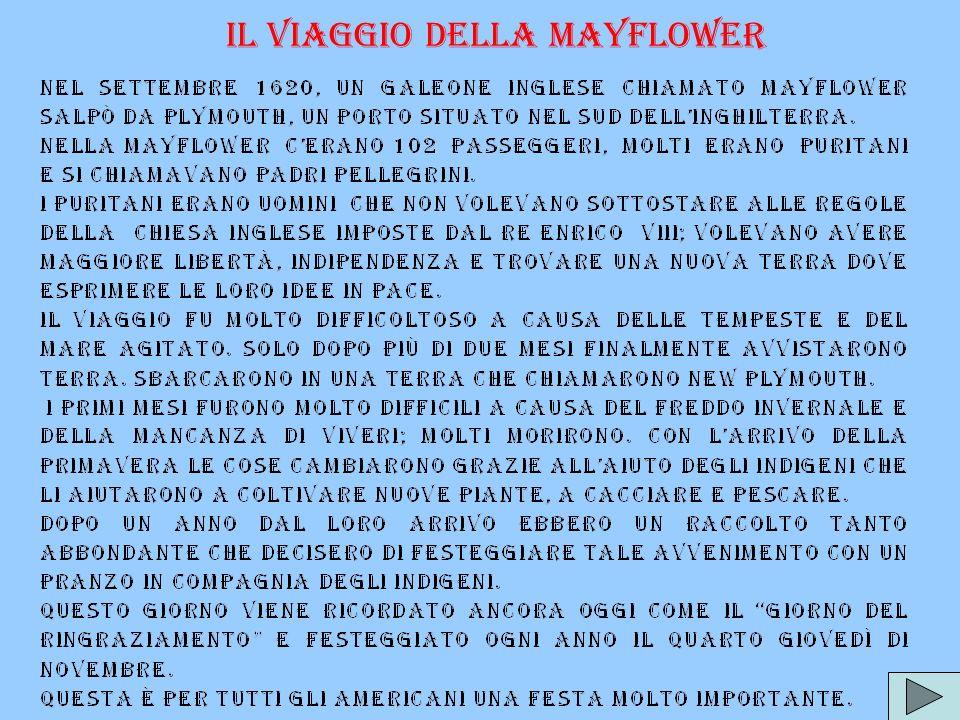 Il viaggio della Mayflower