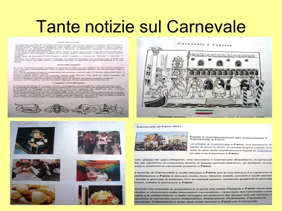 Tante notizie sul Carnevale