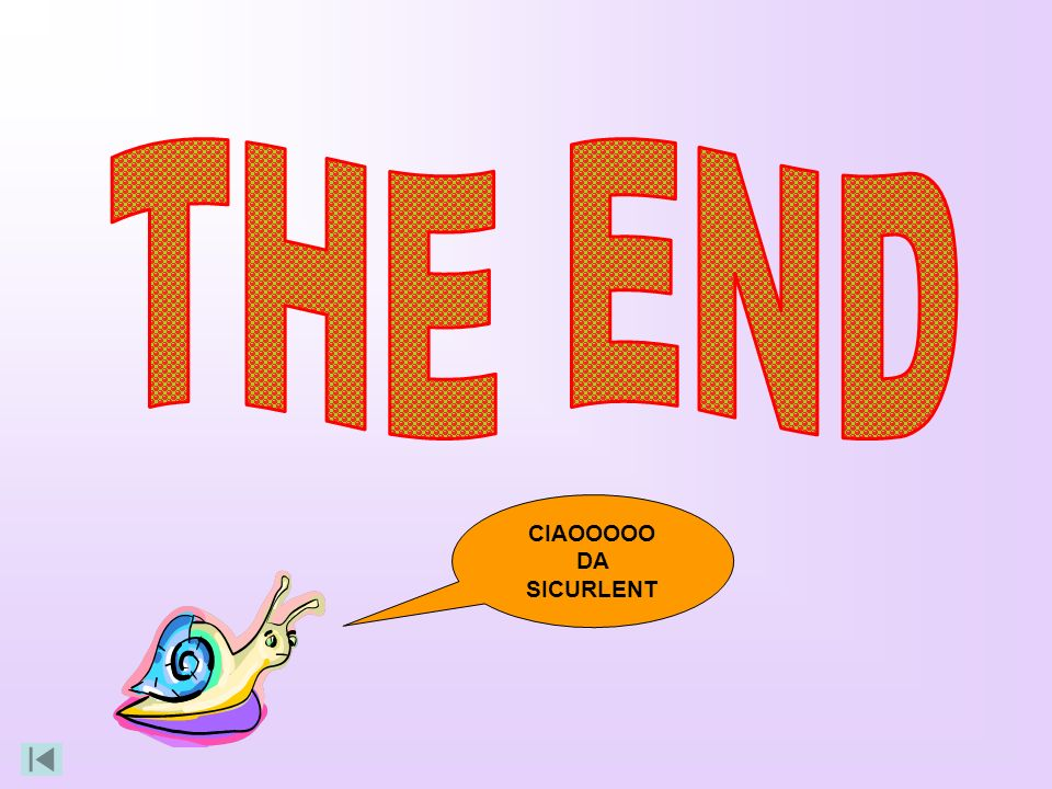 THE END CIAOOOOO DA SICURLENT