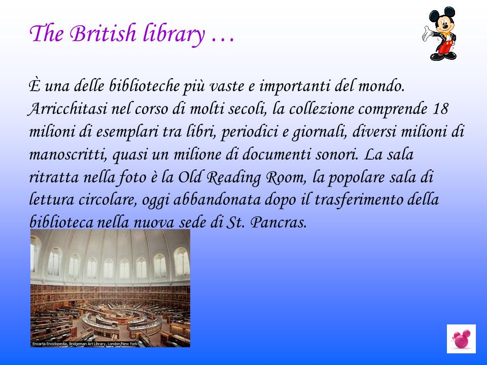 The British library …