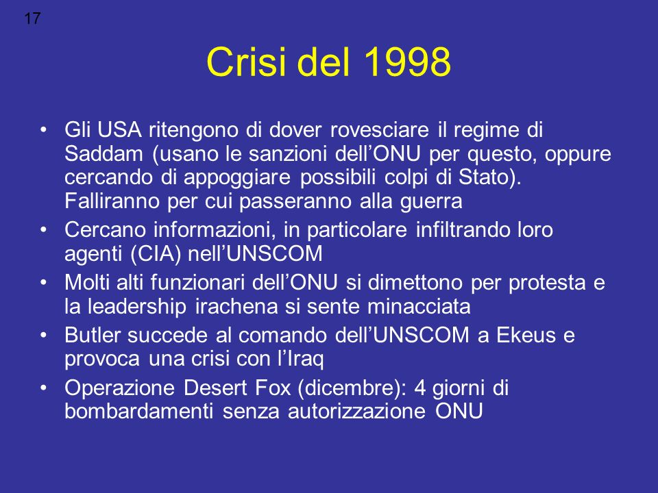17 Crisi del 1998.