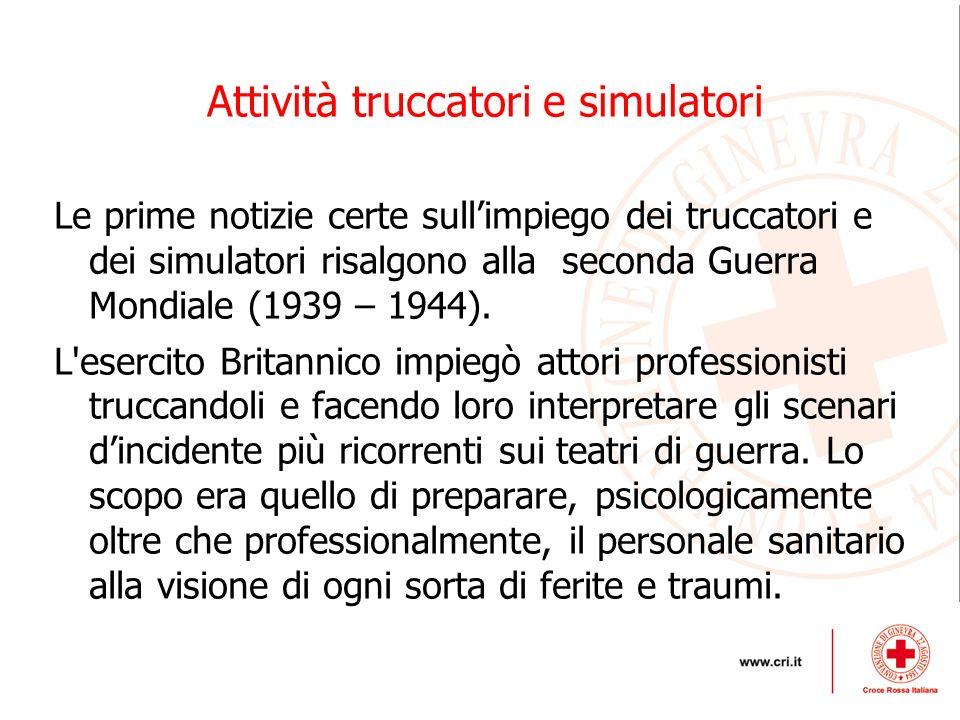 Attività truccatori e simulatori