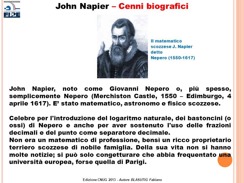 John Napier – Cenni biografici