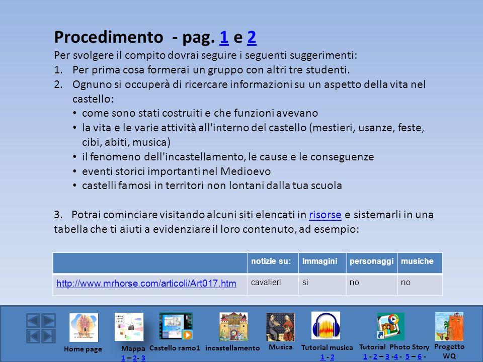 Procedimento - pag. 1 e 2 Per svolgere il compito dovrai seguire i seguenti suggerimenti: