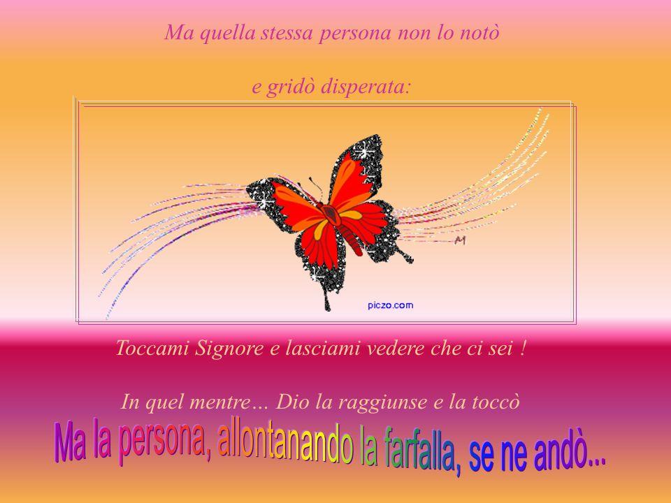 Ma la persona, allontanando la farfalla, se ne andò...