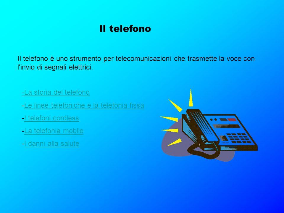 Il telefono Il telefono è uno strumento per telecomunicazioni che trasmette la voce con l invio di segnali elettrici.