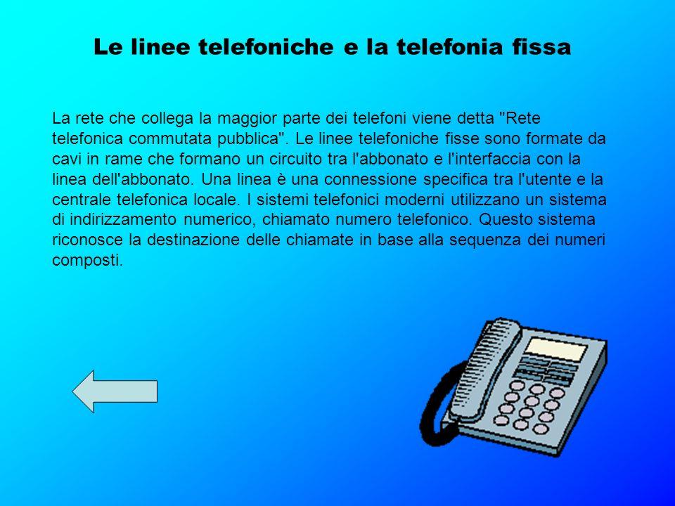 Le linee telefoniche e la telefonia fissa