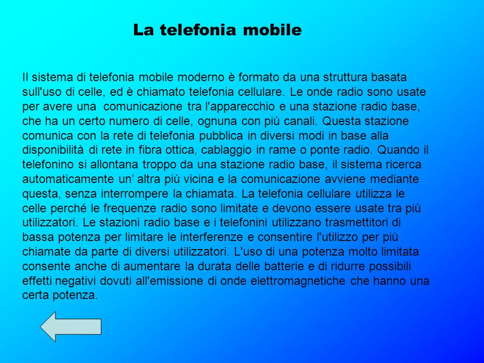La telefonia mobile