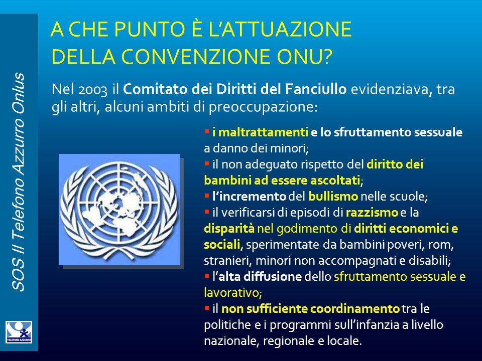 A CHE PUNTO È L'ATTUAZIONE DELLA CONVENZIONE ONU