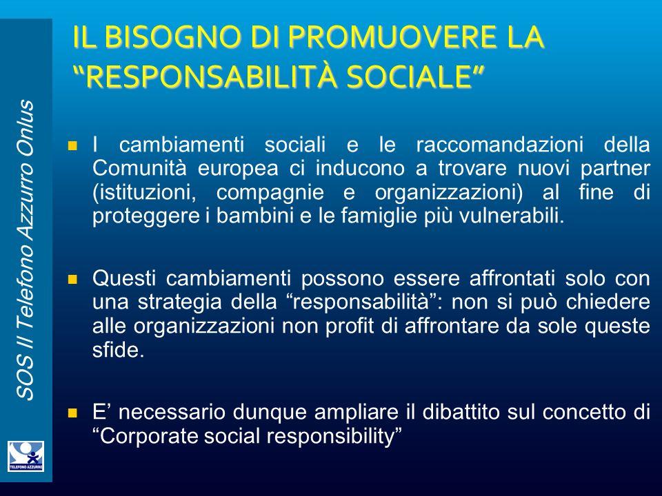 IL BISOGNO DI PROMUOVERE LA RESPONSABILITÀ SOCIALE