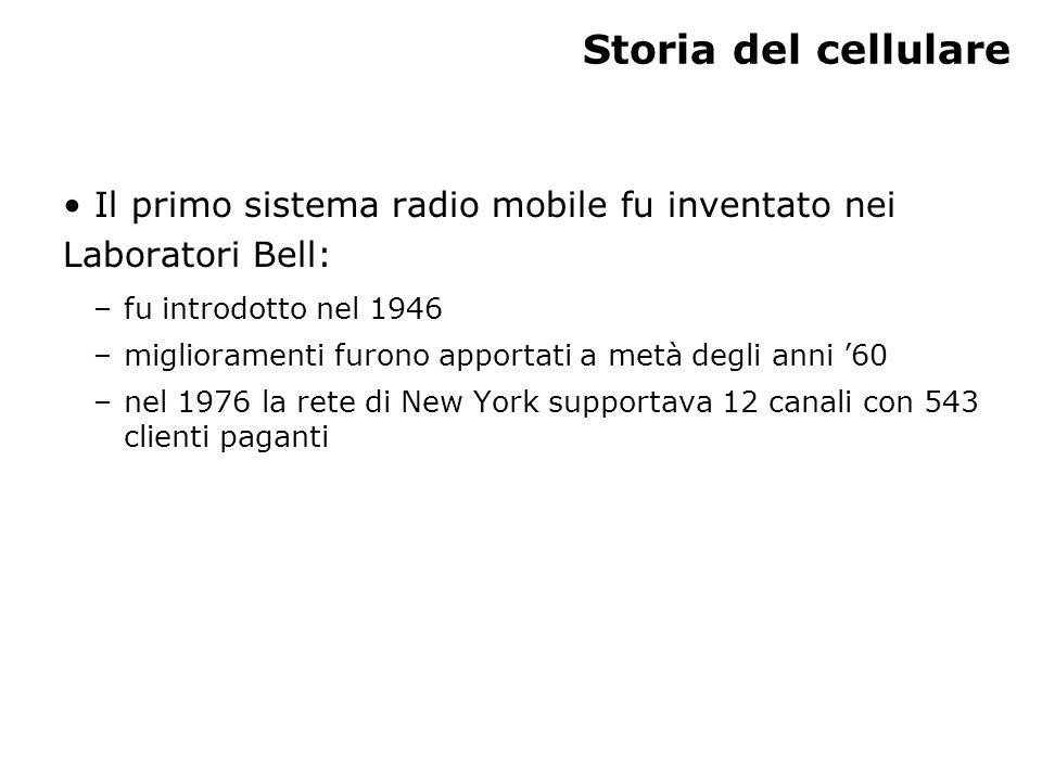 Modulo n – U.D. n – Lez. n Storia del cellulare. Il primo sistema radio mobile fu inventato nei Laboratori Bell: