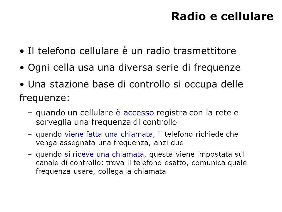 Radio e cellulare Il telefono cellulare è un radio trasmettitore