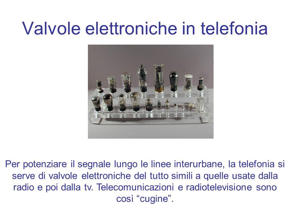 Valvole elettroniche in telefonia