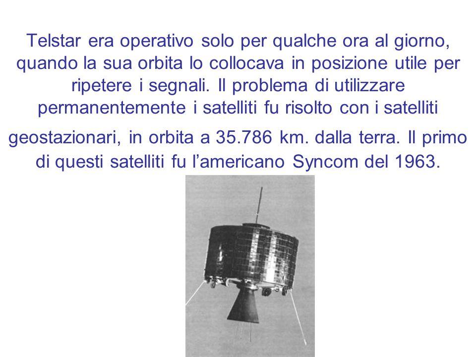 Telstar era operativo solo per qualche ora al giorno, quando la sua orbita lo collocava in posizione utile per ripetere i segnali.