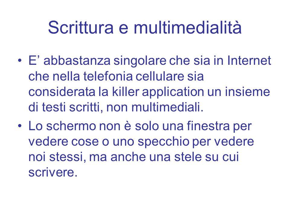 Scrittura e multimedialità