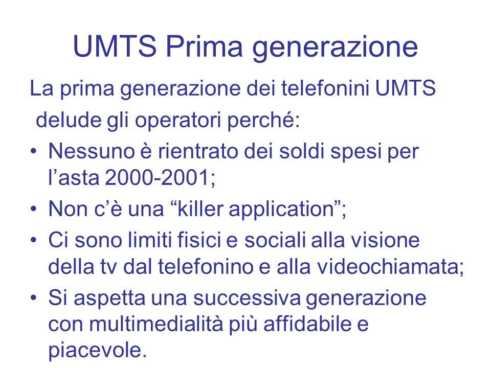 UMTS Prima generazione