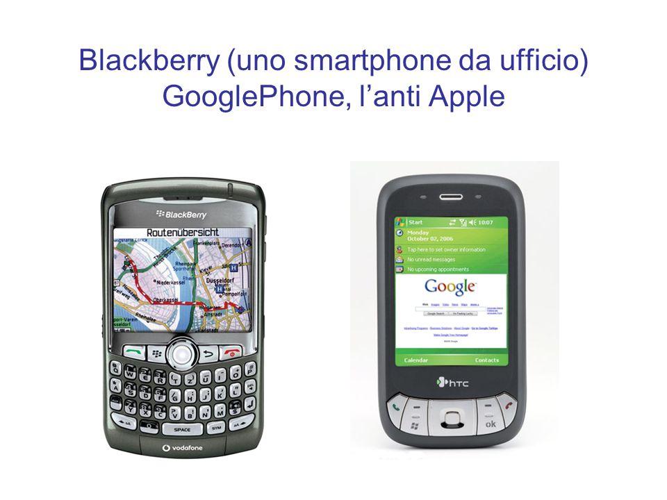 Blackberry (uno smartphone da ufficio) GooglePhone, l'anti Apple