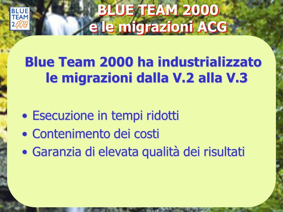 BLUE TEAM 2000 e le migrazioni ACG