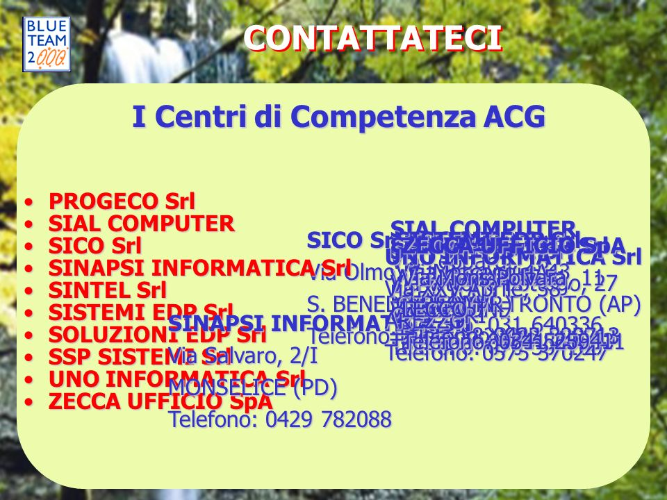 I Centri di Competenza ACG