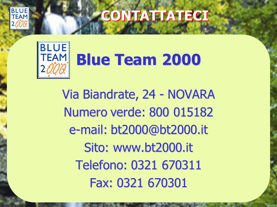 Blue Team 2000 CONTATTATECI Via Biandrate, 24 - NOVARA